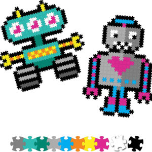 Jixelz 700 pc Set - Roving Robots